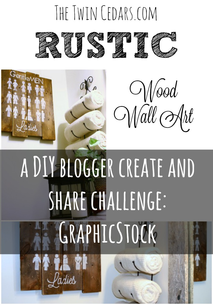 Rustic Wood Wall Art - create and share challenge - graphicstock
