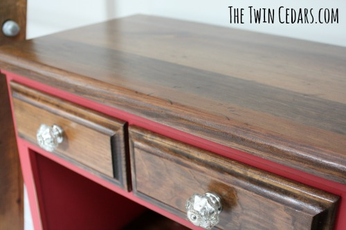 chalk paint and stained furniture flip