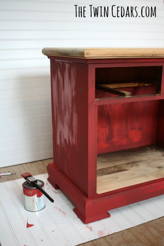 chalk paint furniture flip during