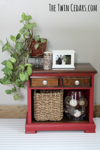 furniture flip antique red