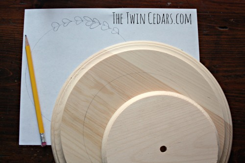 centering your circle for diy lazy susan