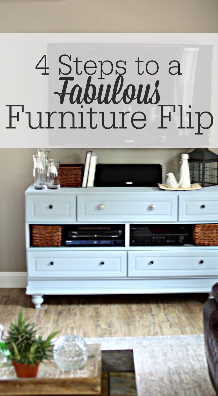 a fabulous furniture flip in 4 steps