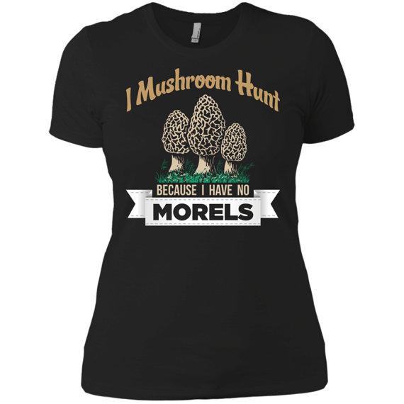 morel mushroom tee